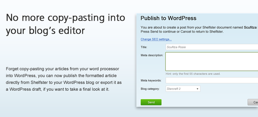 No more copy-pasting into  your blog's editor