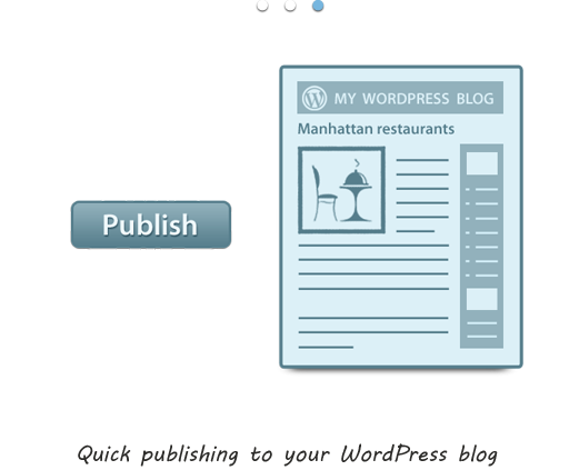 Quick publishing to your WordPress blog